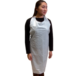 Disposable Plastic Aprons - Lightweight PE Mat (case of 1,000)
