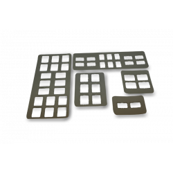 X-Ray Film Mounts - Open Window, Plastic (box of 100)