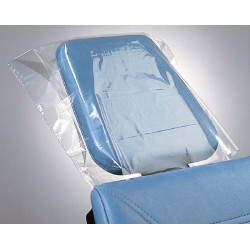 Dental Headrest Covers - Clear Poly (box of 250)