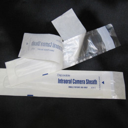 "Intra Oral Camera Sheath - 9-4/5"" x 2"" : 0.95"" Camera Tip (box of 100)"