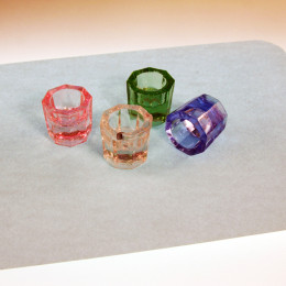 Tattoo ink cups - glass (box of 12)
