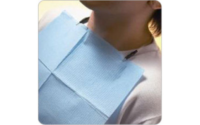 Patient Bibs - Tissue/Poly (case of 500)