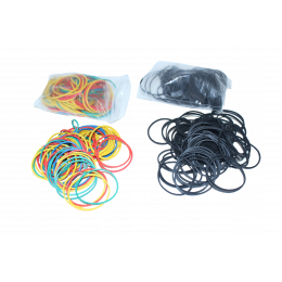 Rubber Band, Assorted and Black Color | 200 PCS