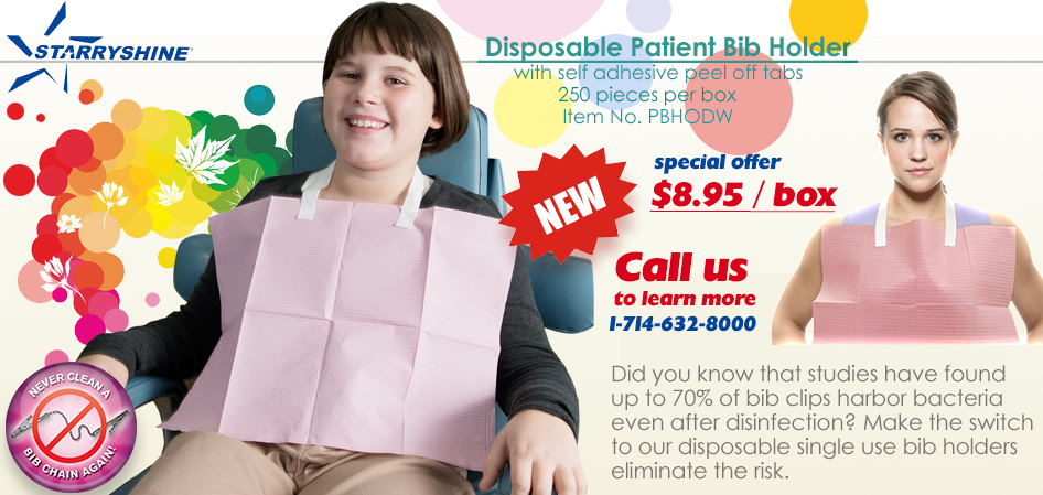 Disposable Patient Bib Holder (Box of 250)